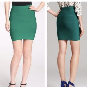 BCBG MAXAZRIA Green Skirt Simone Texture Power